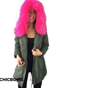 CHICBOMB Jackets & Coats - STREET VIBE faux Fur parka coat.
